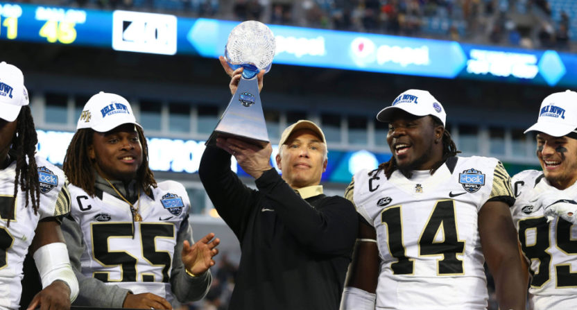 Friday's Belk Bowl saw Wake Forest beat Texas A&M 55-52 in a game with 899 passing yards.