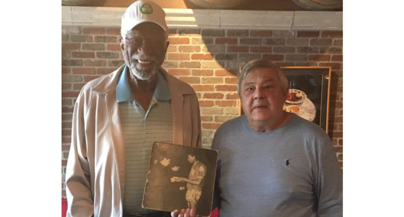 Bill Russell with a man he met behind the Iron Curtain 52 years ago.