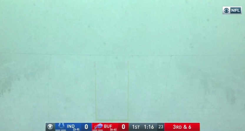 The Bills' game against the Colts saw tons of snow.