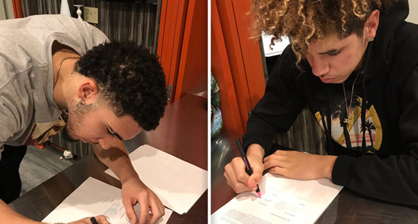 LiAngelo and LaMelo Ball have now been welcomed to Lithuania in song.