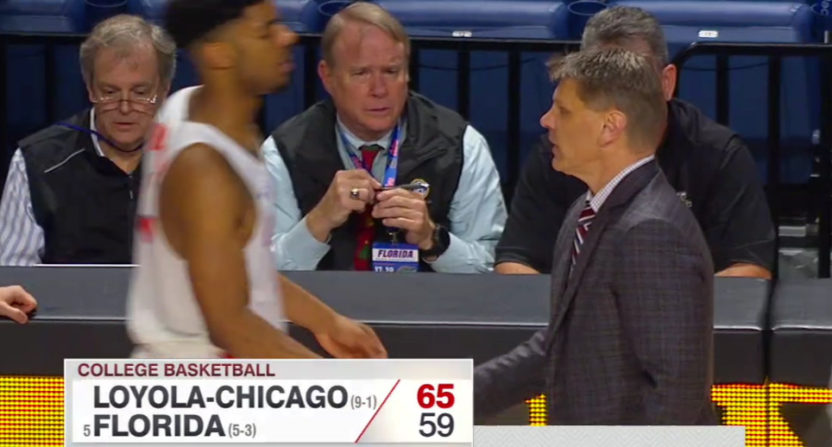 Loyola-Chicago knocked off Florida Wednesday night.