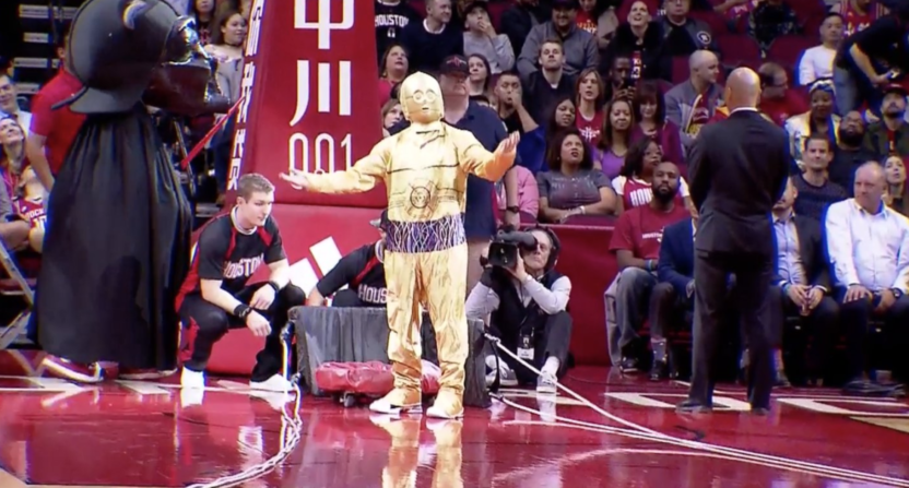Houston Rockets Star Wars Night