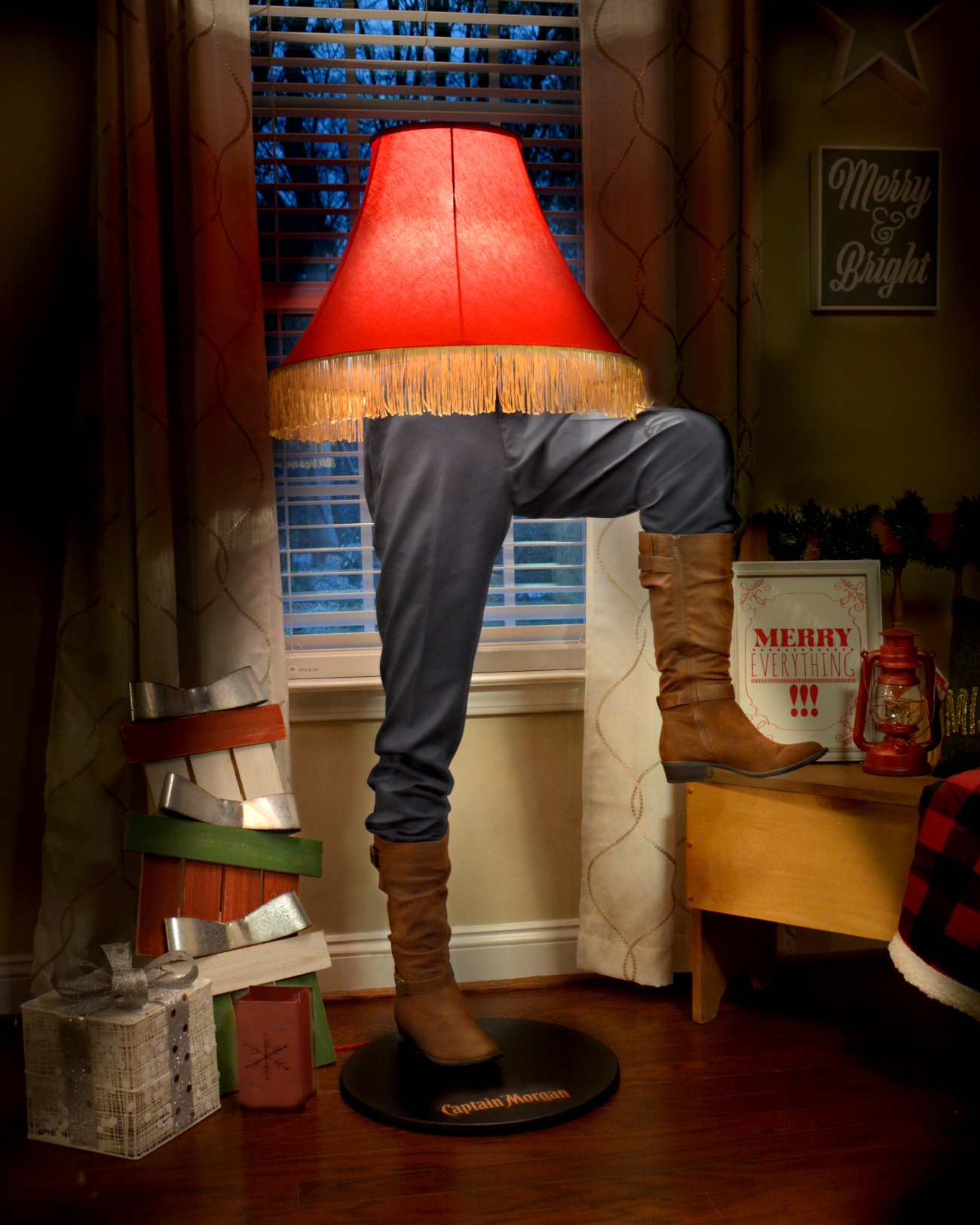 Leg Lamps From A Christmas Story.Captain Morgan Is Selling A Few Large Christmas Story Leg