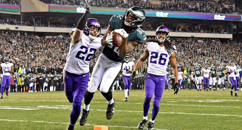 Torrey Smith notched a touchdown on this catch.
