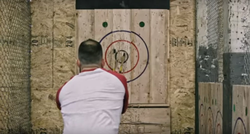 An axe throwing video from Urban Axes, which plans to open a location near Boston soon.