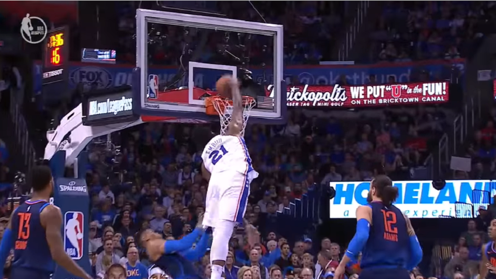 Joel Embiid has hilarious Instagram post after monster dunk on Russell Westbrook