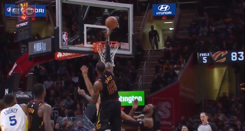 LeBron James backs away from Kevin Durant monster dunk ...
