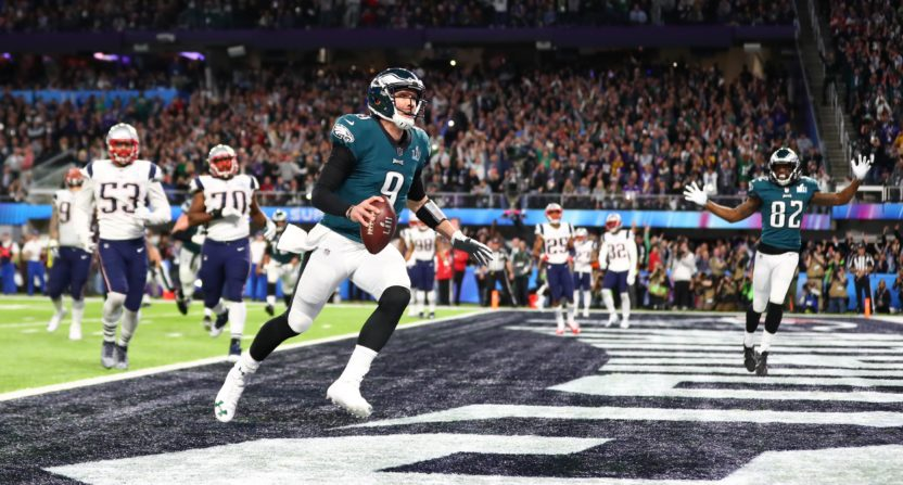 brand new 9868e 6f9a0 Nick Foles outduels Tom Brady, Eagles stun Patriots in Super ...