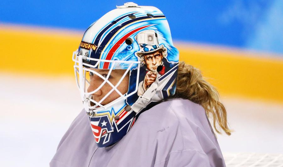 Team USA goalie Alex Rigsby.