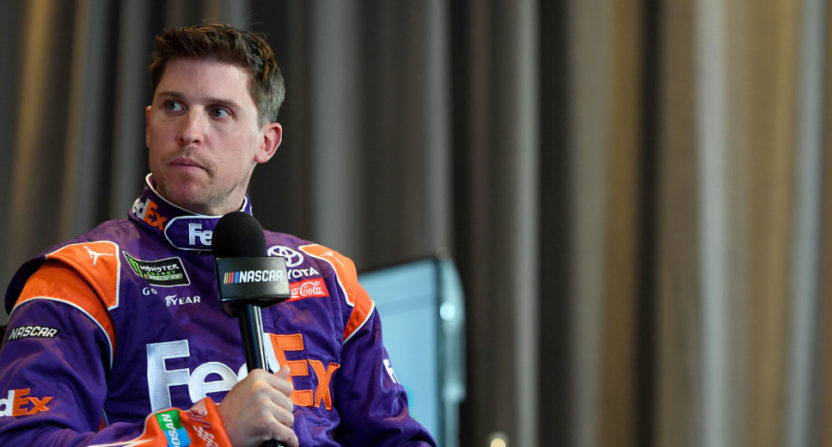 Denny Hamlin talked about Adderall use in NASCAR on Pardon My Take.