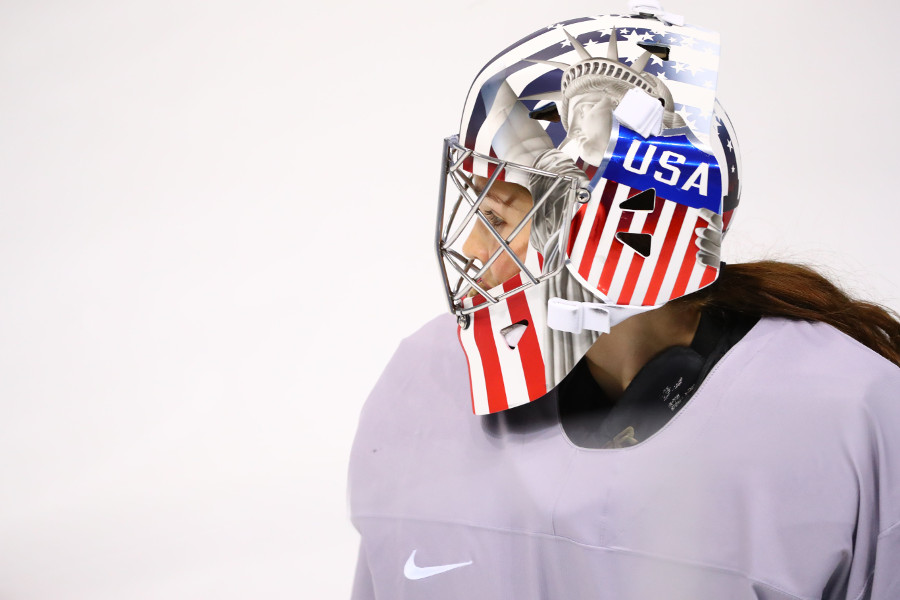 Team USA goalie Nicole Hensley.