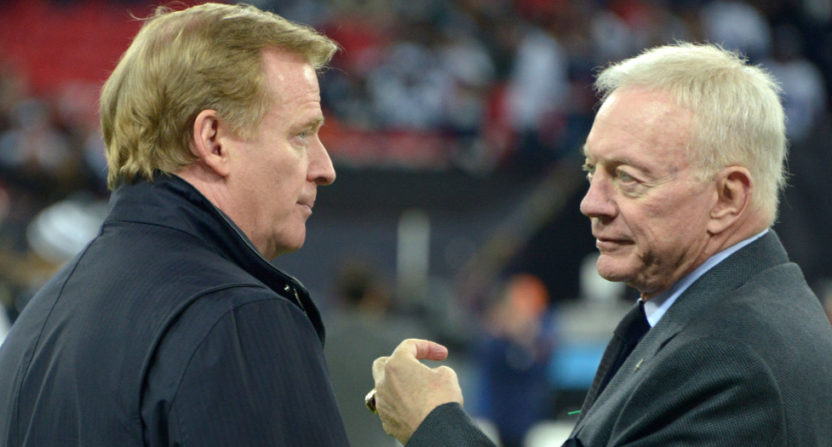Roger Goodell and Jerry Jones.