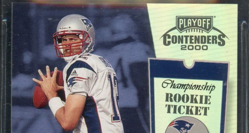 the latest 02502 ab6ab A Tom Brady rookie card just sold on eBay for $250,000