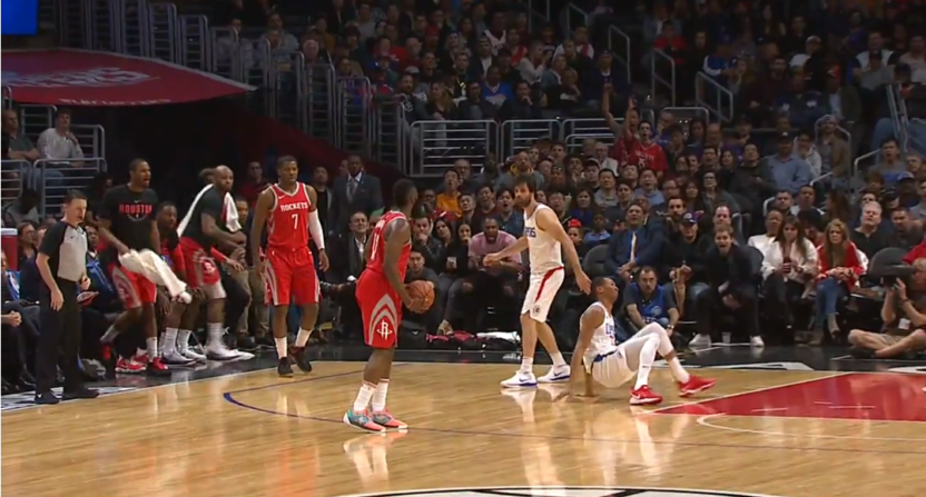 f077a7682337 James Harden drops Wesley Johnson on nasty crossover