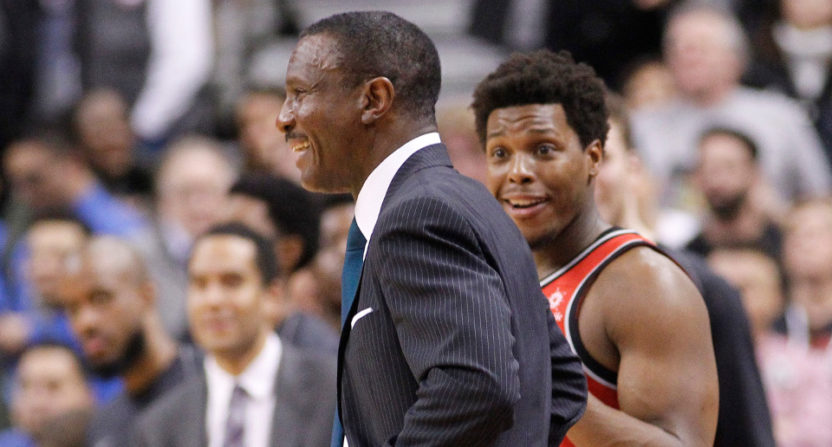 Raptors' head coach Dwane Casey was one of three ejections Sunday. He and guard Kyle Lowry couldn't believe it.