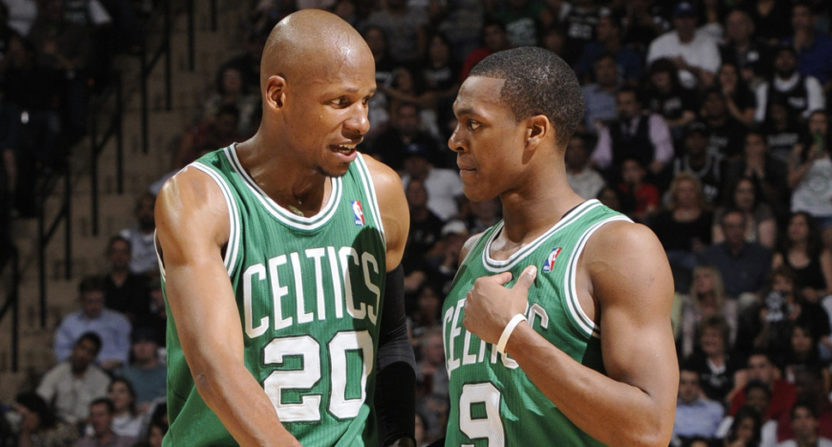 Ray Allen and Rajon Rondo are feuding again.