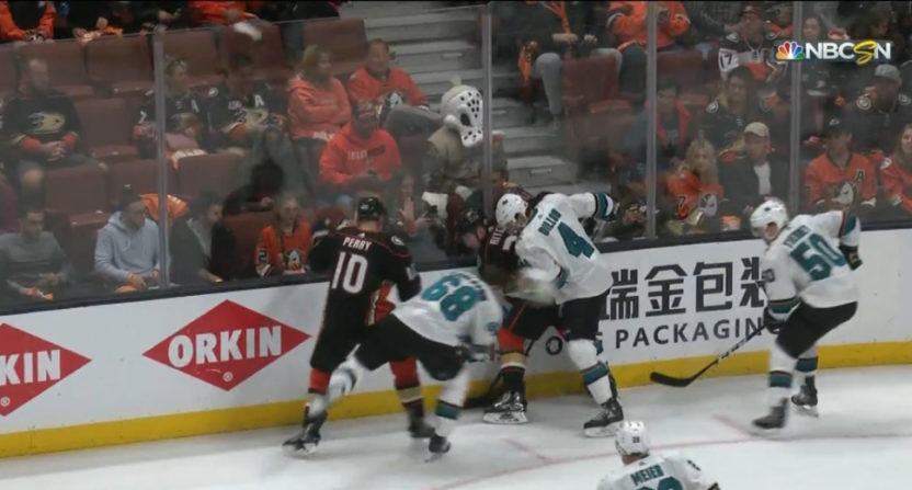 This Corey Perry hit created a lot of controversy.