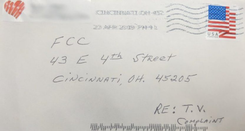 A letter to the FCC wound up with FC Cincinnati.