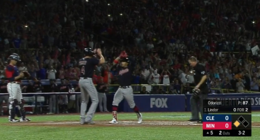 This Francisco Lindor home run caused fans in Puerto Rico to go nuts.