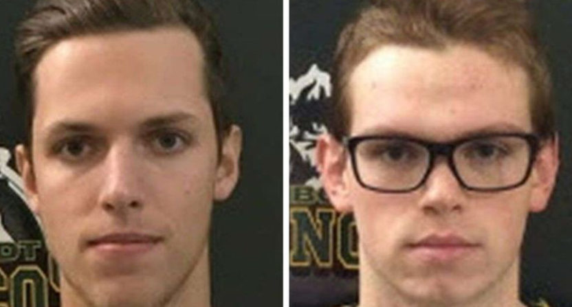 Humboldt player Xavier Labelle (L) was initially thought to be dead, while Parker Tobin (R) was thought to be alive. But the two had been misidentified.