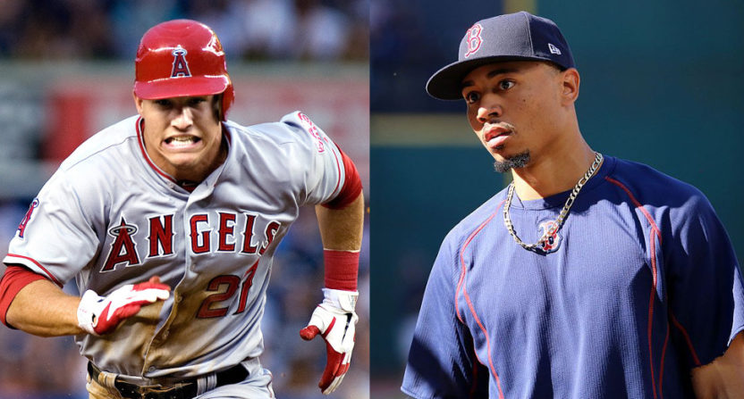 Mike Trout and Mookie Betts.