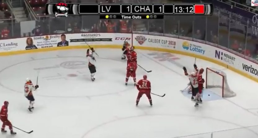 Alex Krushelnysk scored the winner in the fifth overtime of the longest AHL game in history Wednesday.