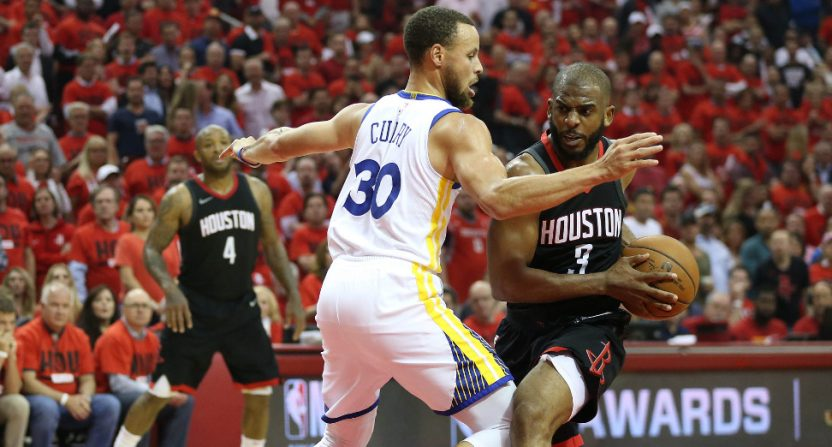 Chris Paul and the Rockets ran over Steph Curry and the Warriors in Game 2.