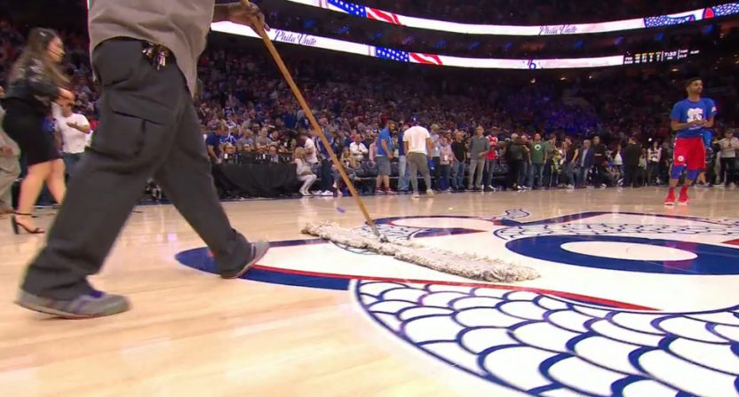 The Sixers' confetti went off too fast Saturday.