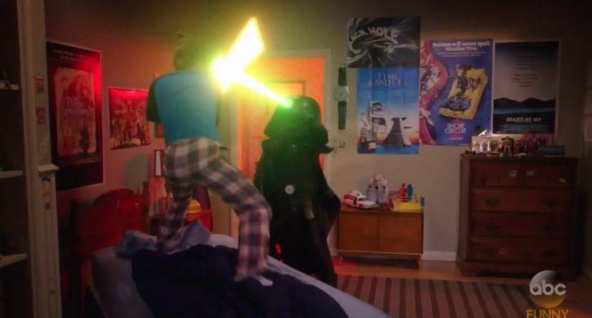 Rick Moranis voiced Dark Helmet on The Goldbergs Wednesday night.