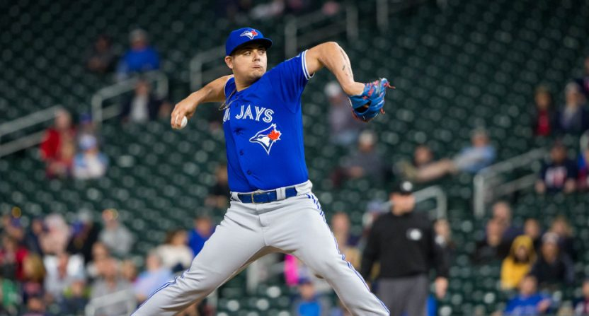 Roberto Osuna against the Twins May 1.