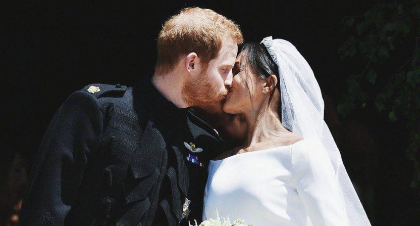 The Royal Wedding kiss.