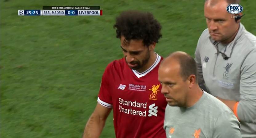 super popular c3dd0 d5418 Here's the injury that knocked Liverpool star Mohamed Salah ...