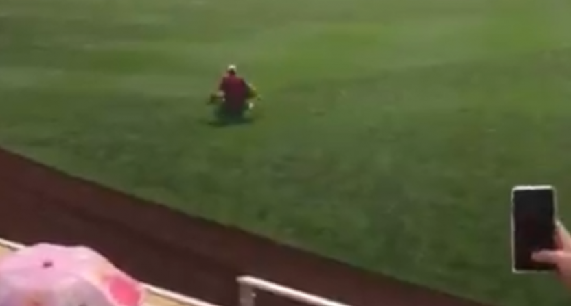 The College World Series Sunday saw a couple of fans tackled.