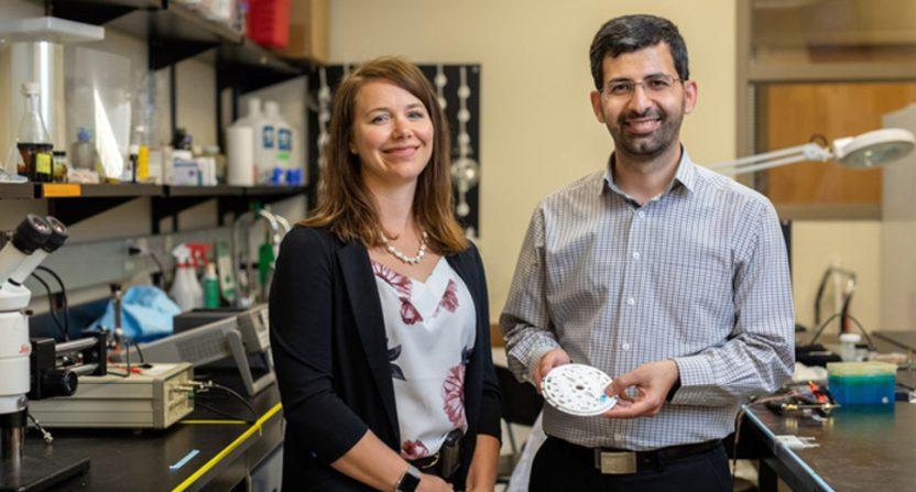 University of Calgary researchers hantel Debert and Amir Sanati-Nezhad.