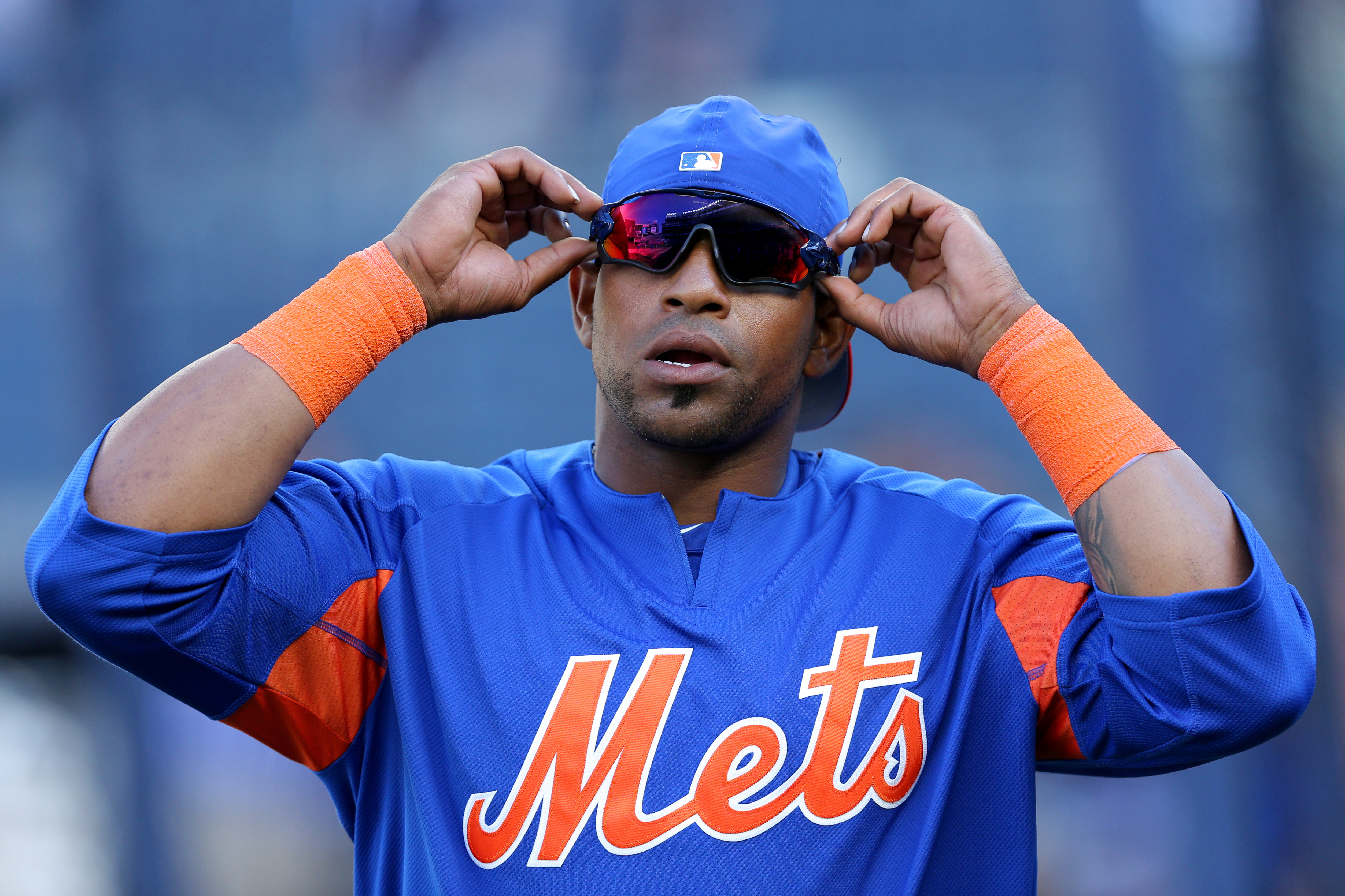outlet store 0be90 f02ed Yoenis Cespedes homers in return from DL, later says he may ...