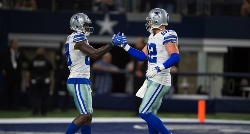 Dez Bryant (L) and Jason Witten in 2016.