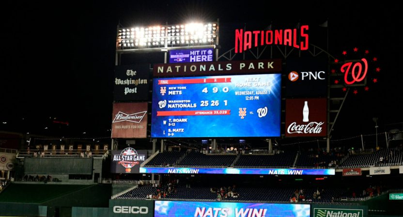 The Mets' 25-4 loss to the Nationals.