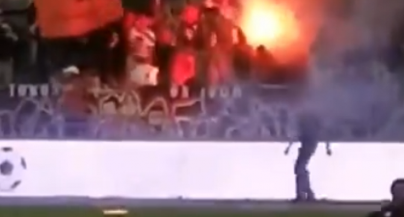 Toronto FC fans started a fire in the stands against the Ottawa Fury.