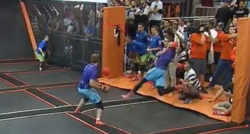 A dodgeball highlight from ESPN: The Ocho.