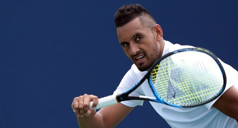 Nick Kyrgios in the Cincinnati Masters.