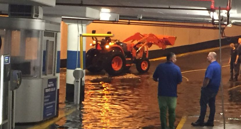 The Rogers Centre's flooded garage.