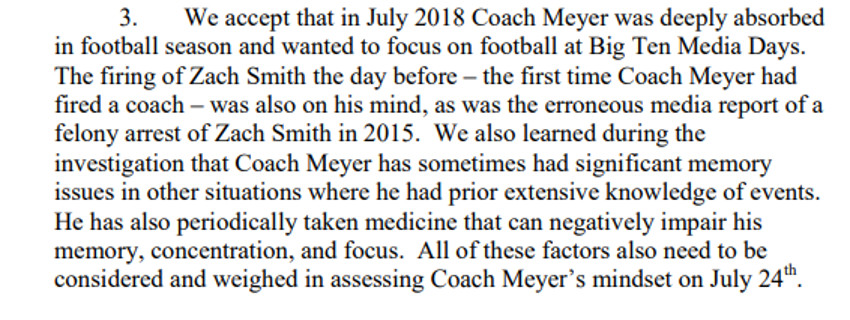 "The OSU report on Urban Meyer's ""memory loss."""