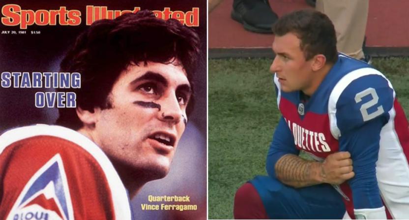 Vince Ferragamo and Johnny Manziel.