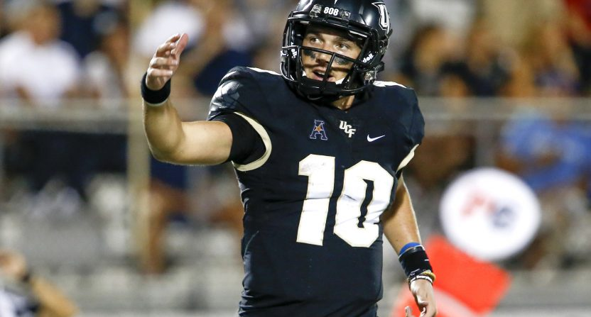 sale retailer 699b8 b3867 McKenzie Milton puts up Heisman numbers as UCF flexes G5 ...