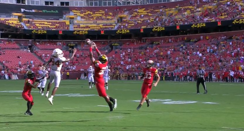 Antoine Brooks' pick-six against Texas.