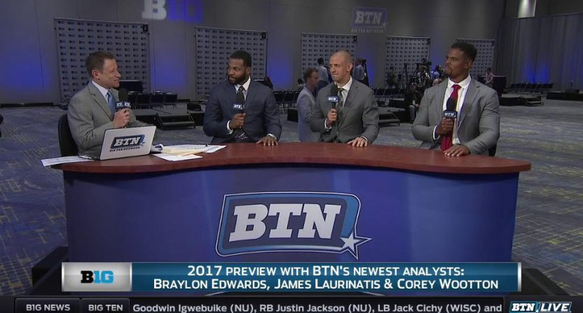 Braylon Edwards on BTN in 2017.