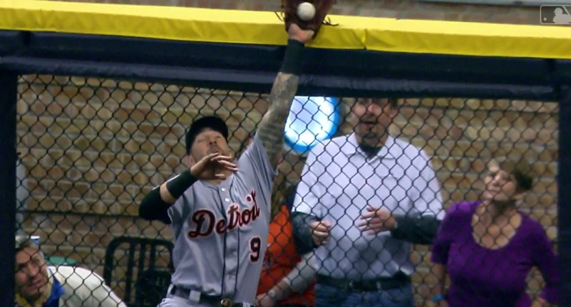 Tigers Of Nick Castellanos Helps Ryan Braun Fly Ball Over The Fence