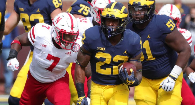 Michigan thumped Nebraska Saturday.