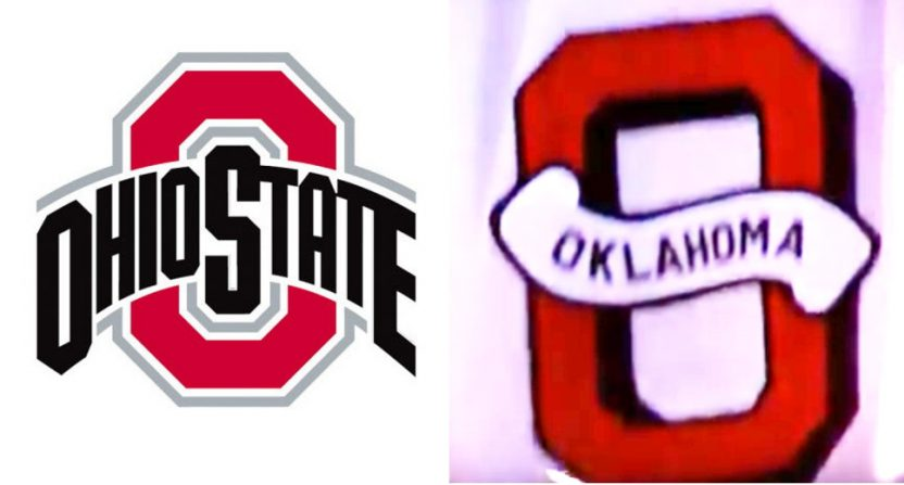Ohio State and Oklahoma's Block Os.