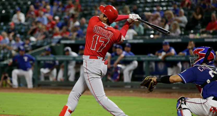 Shohei Ohtani's eighth-inning home run Wednesday.